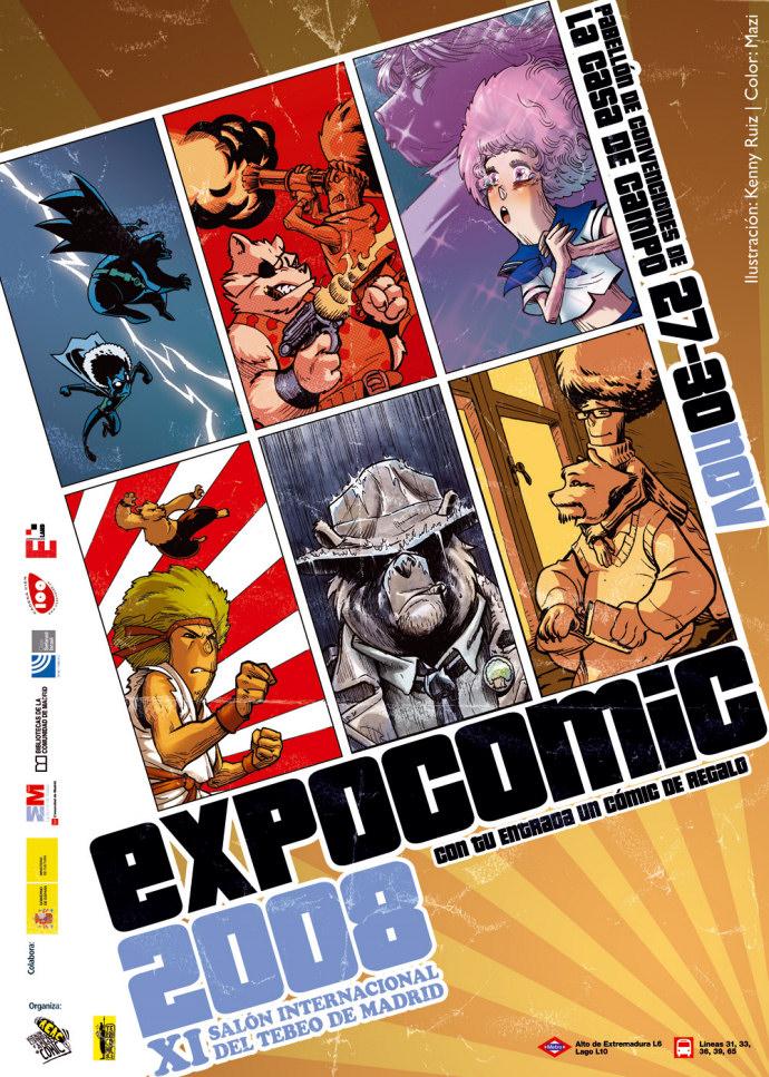 expocomic, madrid, 2008, cartel