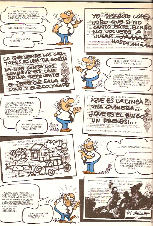 manuel vazquez, bingo, tope guai, tebeos s.a.