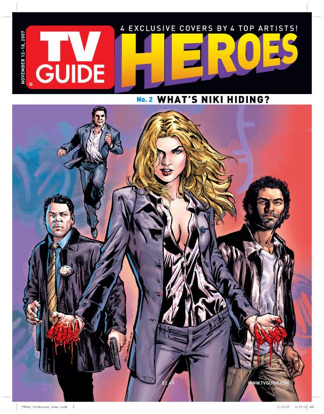 heroes, tv guide, jim lee, michael turner, phil jimenez, tim sale